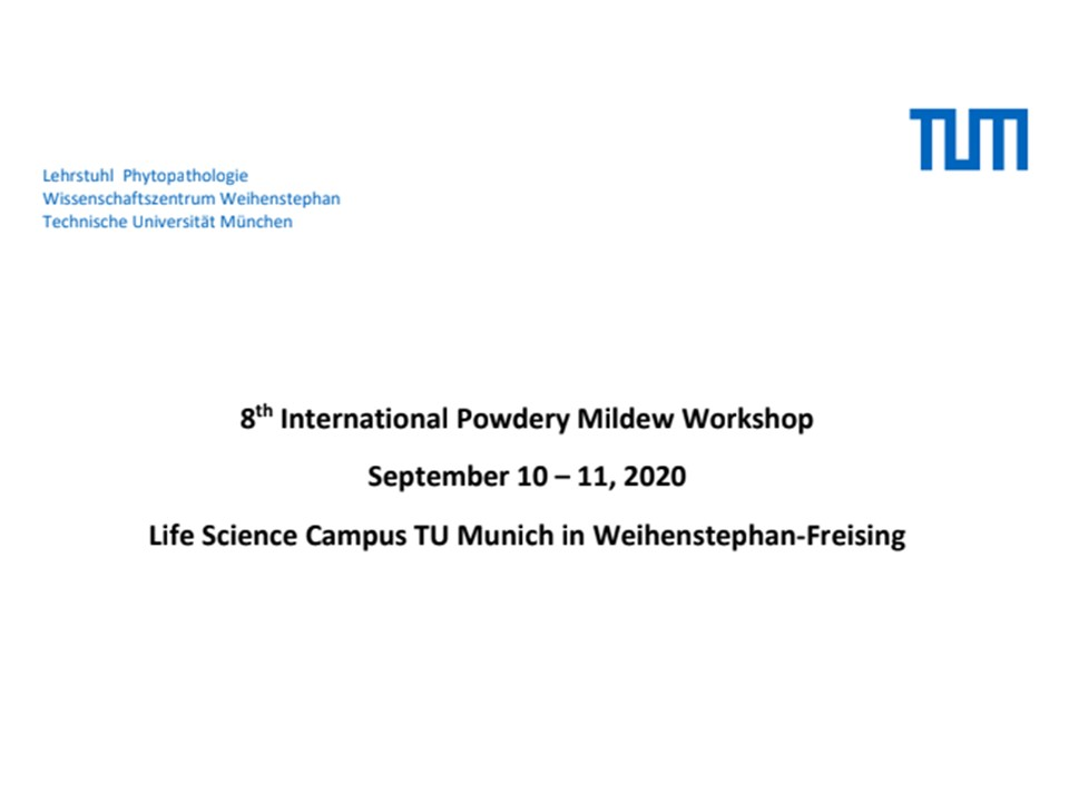 8 International Powdery Mildew Workshop